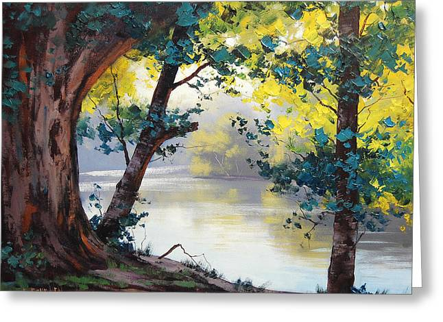 Tumut River Australia Greeting Card by Graham Gercken