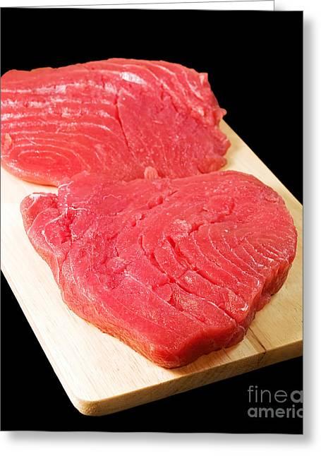 Tuna Steaks Greeting Card by Sinisa Botas