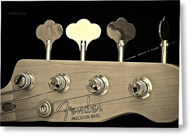 Fender Precision Bass Greeting Card