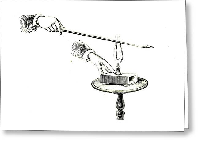 Tuning Fork Experiment Greeting Card by Universal History Archive/uig
