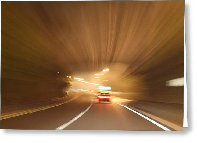 Tunnel 1704-51 Greeting Card by Deidre Elzer-Lento