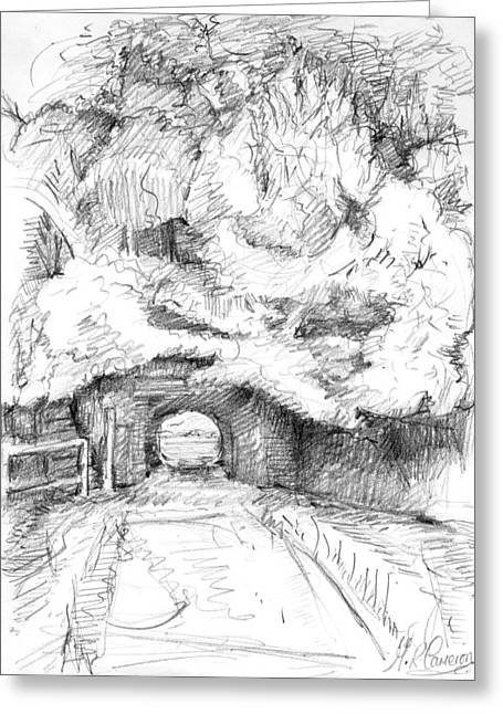 Tunnel Connecting Meadows Greeting Card
