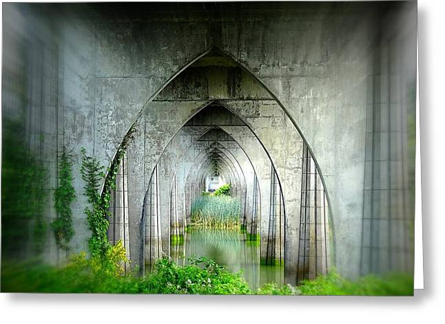 Tunnel Effect Greeting Card