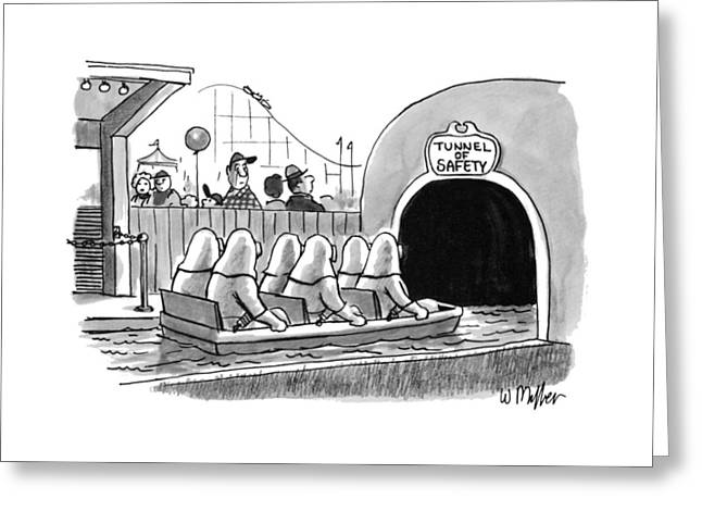 Tunnel Of Safety Greeting Card