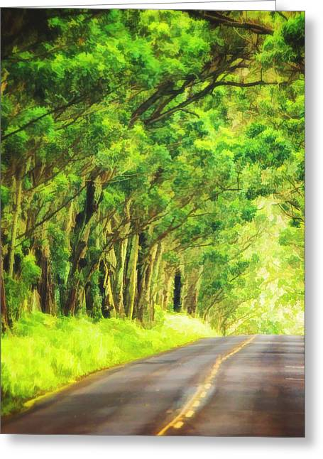 Tunnel Of Trees In Kauai Greeting Card