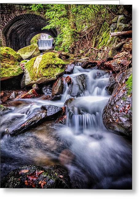 Tunnel Of Water Greeting Card