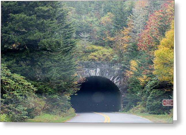 Tunnel On Parkway Greeting Card by Melony McAuley