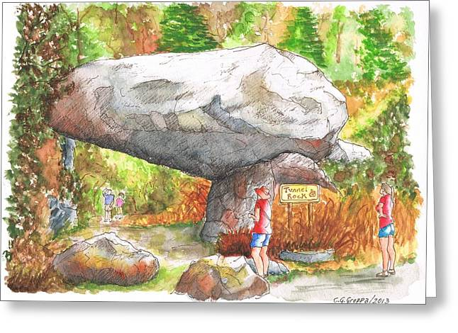 Tunnel Rock In The Sequoia National Park - Ca Greeting Card