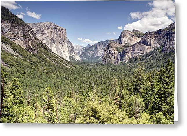 Tunnel View Yosemite Greeting Card by Chris Frost