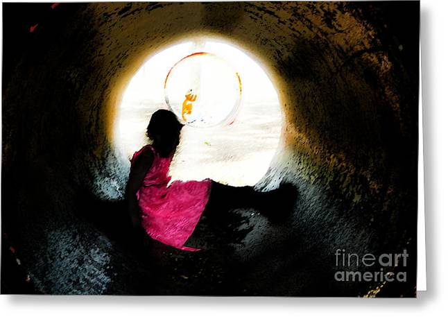 Tunnel Vision Gc Greeting Card