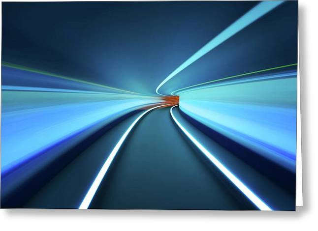 Tunnel Vision Greeting Card by Robert Work