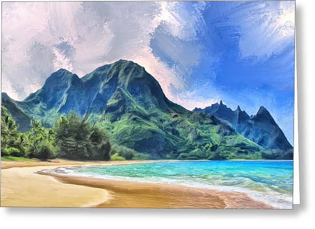 Tunnels Beach Kauai Greeting Card