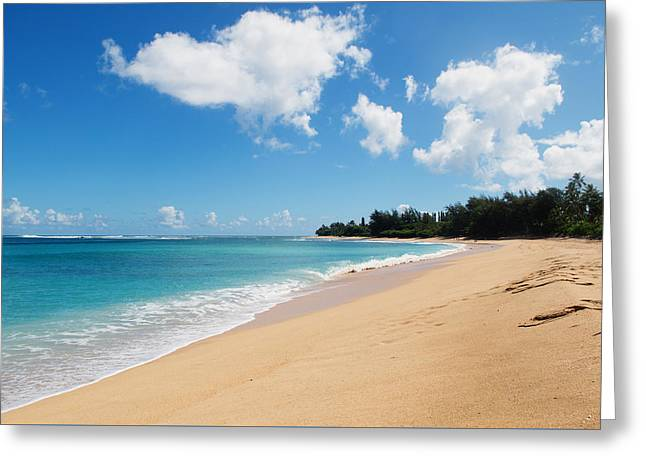 Tunnels Beach Greeting Card by Nastasia Cook