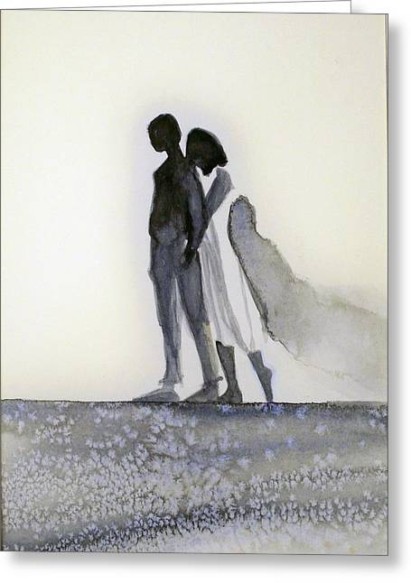 Greeting Card featuring the painting Tupelo by Ed  Heaton