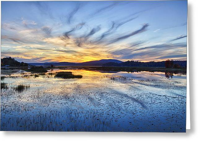 Tupper Lake Sunset Hdr 01 Greeting Card