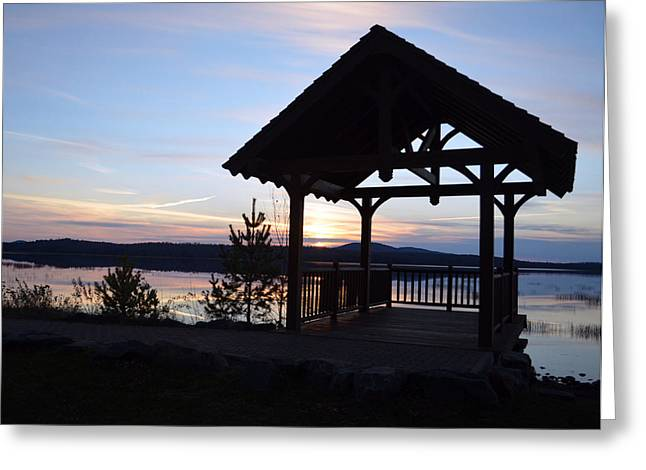 Tupper Lake Sunset Over Raquette Pond Greeting Card