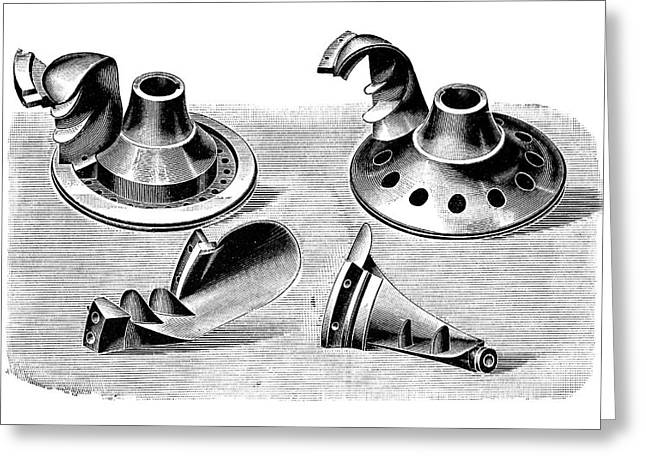 Turbine Parts Greeting Card by Science Photo Library