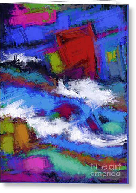 Turbulence Greeting Card by Keith Mills