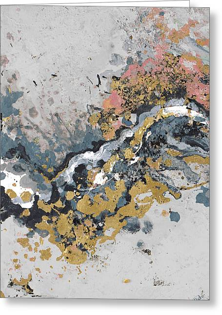 Turbulence Vertical Greeting Card by Patricia Pinto