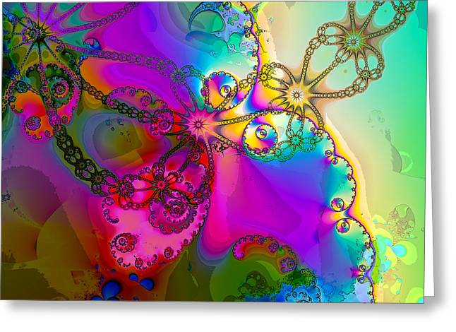 Turbulent Color 2 Greeting Card by Sharon Lisa Clarke