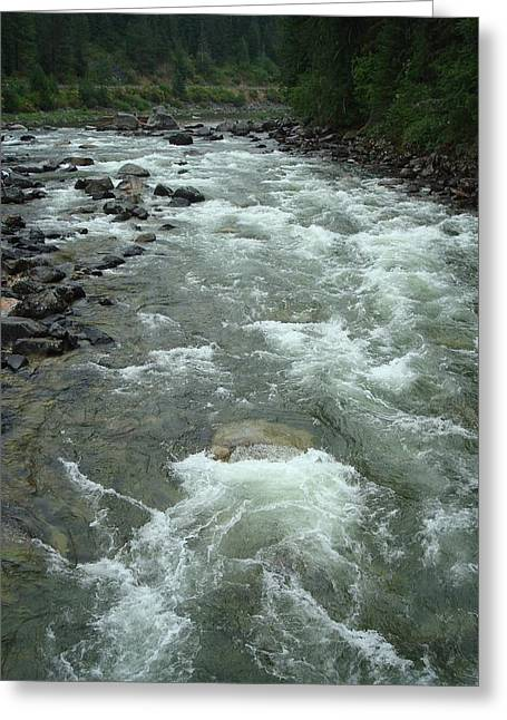 Turbulent Lochsa River Greeting Card