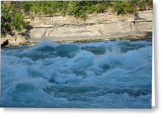 Turbulent Waters Greeting Card by Brandie Marshall