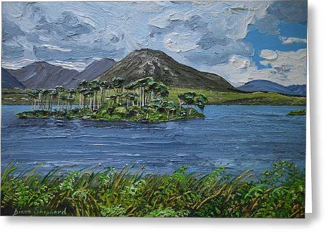 Derryclare Lake Recess Connemara Greeting Card