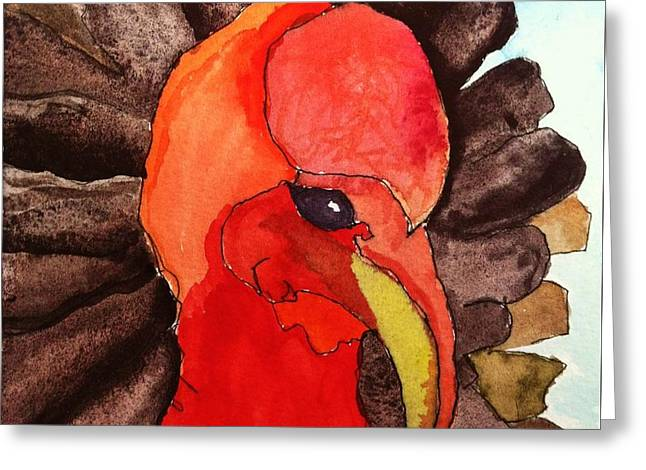Turkey In Waiting Greeting Card