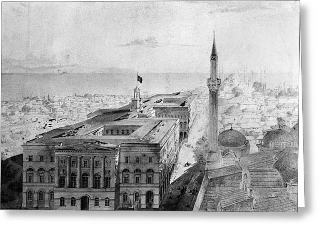 Turkey Istanbul, 1852 Greeting Card