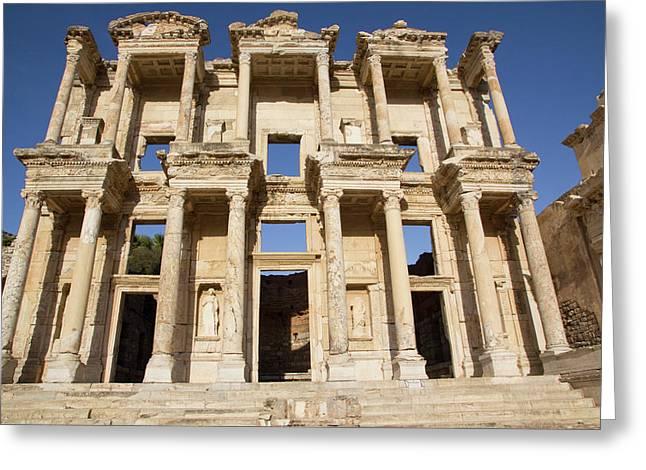 Turkey, Izmir, Kusadasi, Ephesus Greeting Card