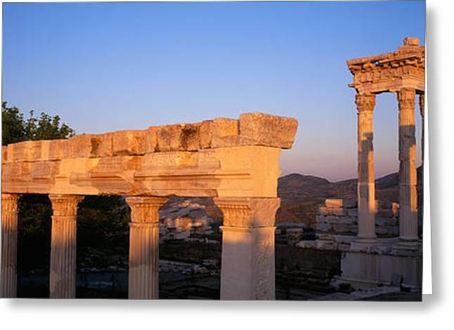 Turkey, Pergamum, Temple Ruins Greeting Card