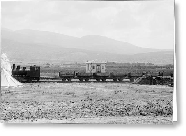 Turkey Railroad Greeting Card by Granger
