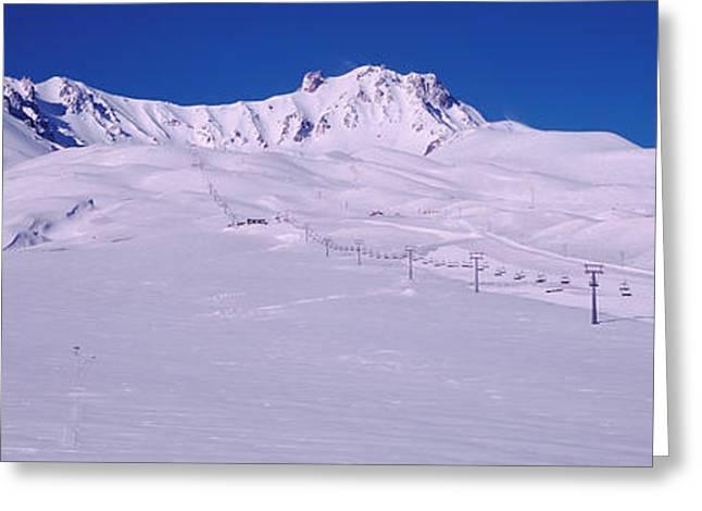 Turkey, Ski Resort On Mt Erciyes Greeting Card