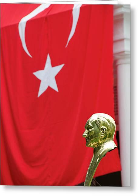 Turkey, Trabzon Mustafa Kemal Ataturk Greeting Card
