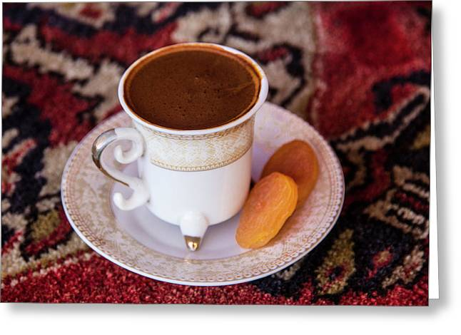 Turkey Turkish Coffee, Apricots Greeting Card by Emily Wilson