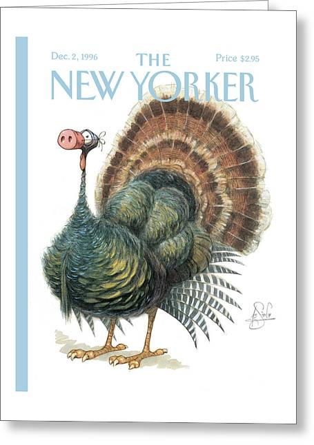 Turkey Wearing A False Pig Nose Greeting Card