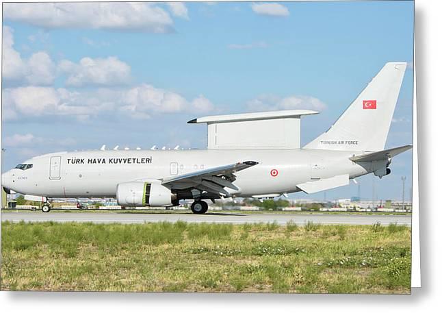 Turkish Air Force E-7 Awacs Aircraft Greeting Card