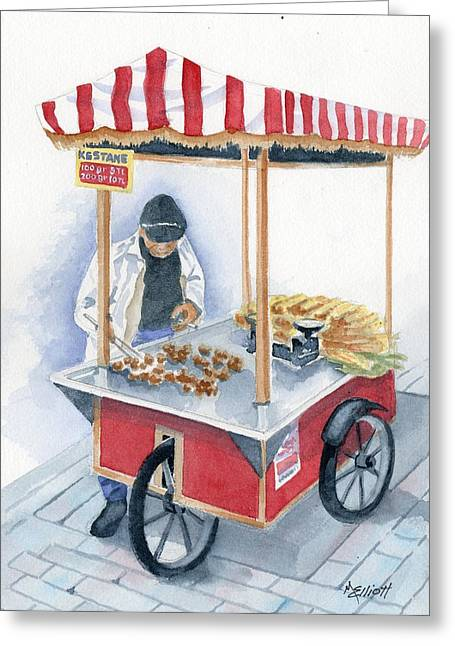 Turkish Fast Food Greeting Card by Marsha Elliott