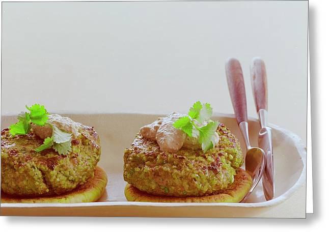 Turkish Style Lamb Burgers Greeting Card