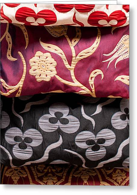 Turkish Textiles 01 Greeting Card by Rick Piper Photography