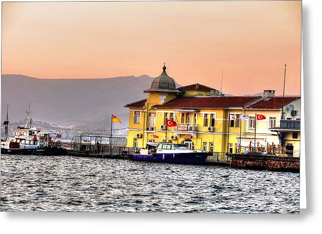 Turkish Water Police Station Greeting Card by Mark Alexander