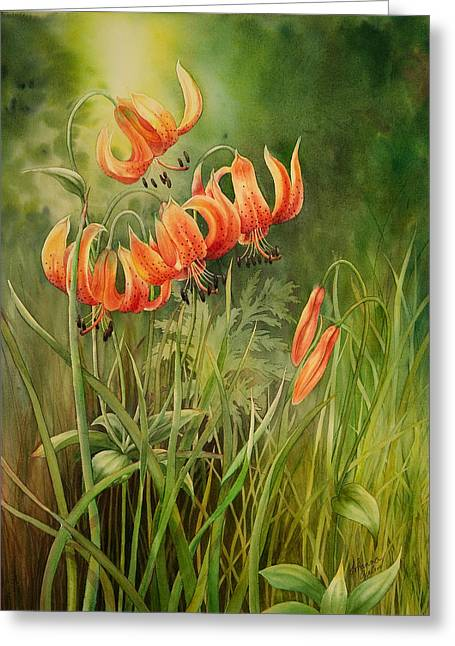 Turk's Cap Lilies Greeting Card