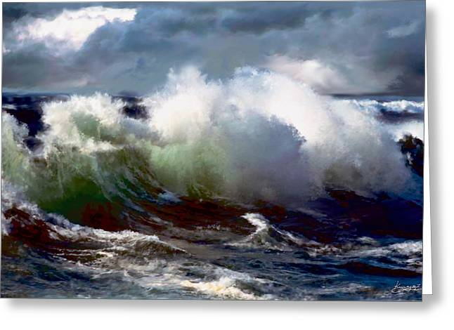 Turmoil Greeting Card by Neil Kinsey Fagan
