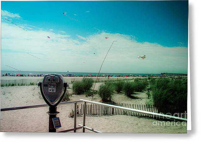 Turn To Clear At The Shore Greeting Card by Tom Gari Gallery-Three-Photography