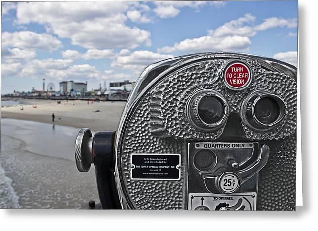 Turn To Clear Ferris Wheel Greeting Card by Tom Gari Gallery-Three-Photography