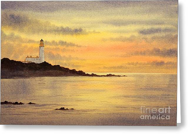 Turnberry Golf Course Scotland Sunset Greeting Card by Bill Holkham