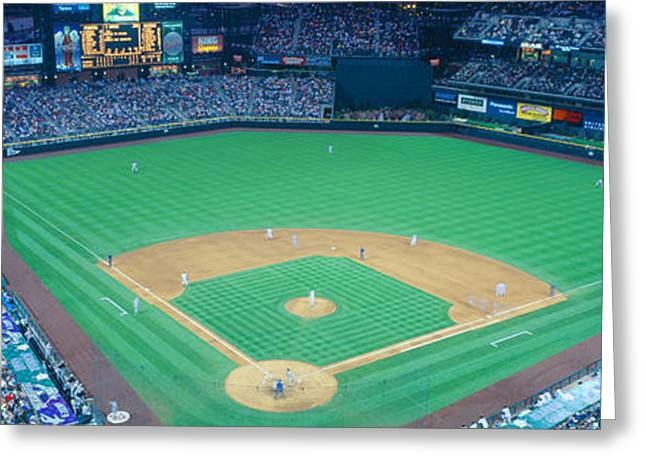 Turner Field At Night, World Champion Greeting Card by Panoramic Images