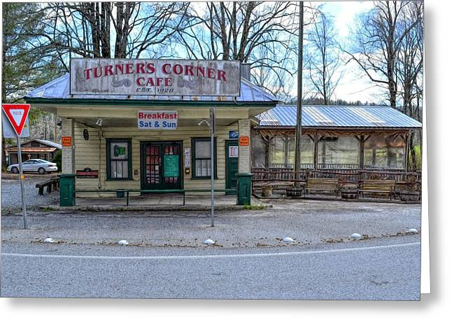 Turners Corner Greeting Card by Bob Jackson
