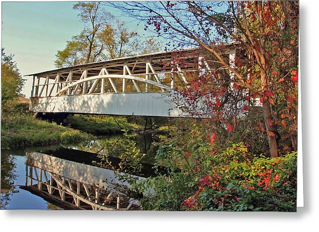 Greeting Card featuring the photograph Turner's Covered Bridge by Suzanne Stout