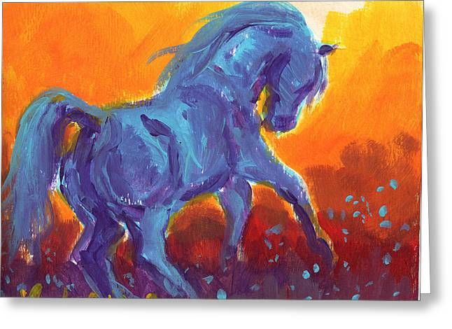Turquois Stallion Greeting Card